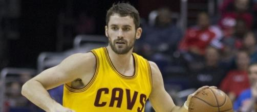 Kevin Love will most likely be a starting center for the Cleveland Cavaliers. Image Credit: Keith Allison / Flickr