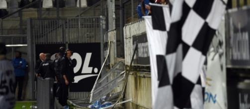 La barrière du match Lilles-Amiens