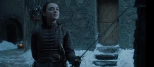 "Maisie Williams returns as Arya Stark in ""Game of Thrones"" Season 8. (Photo:YouTube/Ben Quincy-Shaw)"