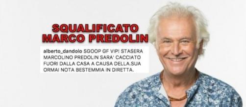 Marco Predolin squalificato dal GF Vip per bestemmia