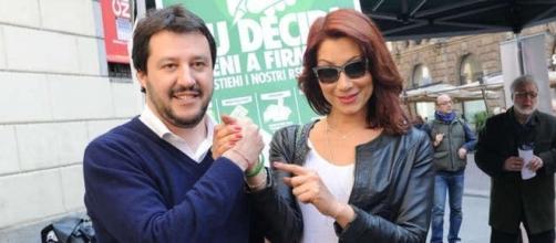 Matteo Salvini insieme ad Efe Bal