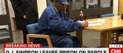 O.J. Simpson finally released from prison after nine years. (Image credit: CNN/YouTube)
