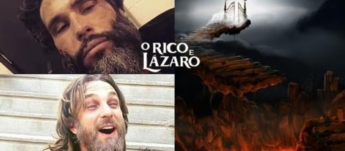 Quem é o homem rico e quem é o pobre Lázaro na novela bíblica da RecordTV?