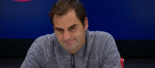 Roger Federer during a press conference at the 2017 US Open. [Image Credit: US Open Tennis Championships/YouTube]
