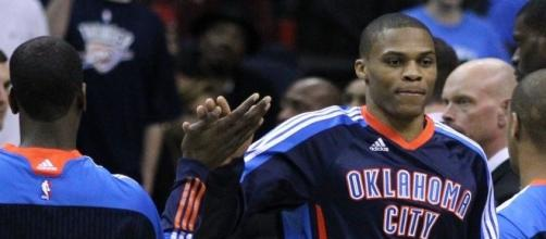 Russell Westbrook with the OKC. [Image Credit: Keith Allison/Flickr]