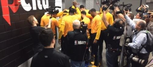 The Warriors waived two players from their roster Saturday. Image Credit: LetsGoWarriors / YouTube