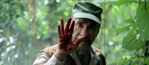 Una investigación misteriosa en una remota tribu de chimpancés asesinos es el tema de Blood Monkey