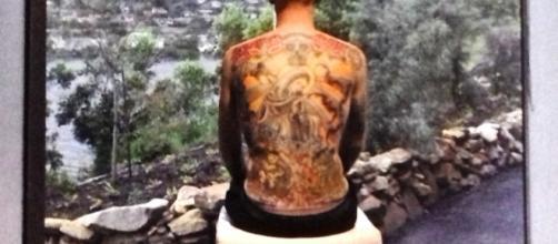 """Wim Delvoye, """"Tim"""" pelle tatuata, grandezza naturale (2006-2008)"""