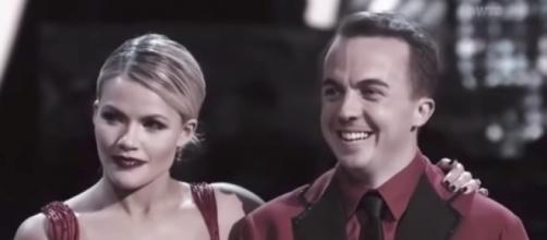 Witney Carson and Frankie Muniz are partners on 'Dancing With the Stars' Season 25 [Image via ABC/YouTube screenshot]