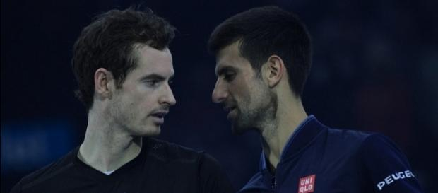 Andy Murray and Novak Djokovic at the 2016 ATP World Tour Finals. [Image Credit: Marianne Bevis, Flickr -- CC BY-ND 2.0]