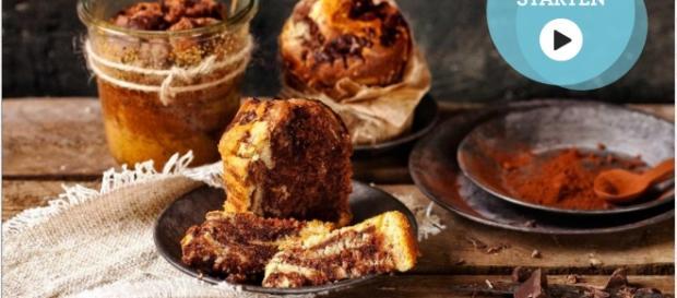 Marmorkuchen to go mit süßem Schokokern – Die Anleitung