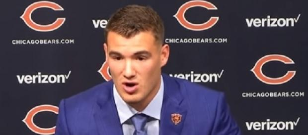 Mitchell Trubisky will make his first NFL regular-season start vs Minnesota Vikings -- [Chicago Bears / YouTube screencap]