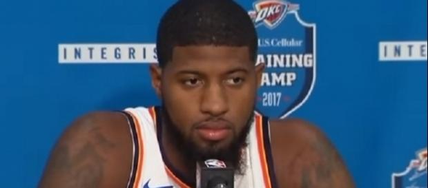 Paul George has a $20.7 million player option in his contract for 2018 -- ESPN via YouTube