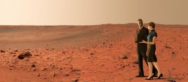 Será que um dia passearemos assim em Marte?