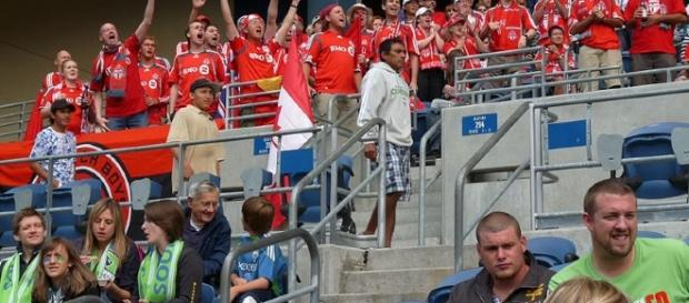 Toronto FC fans (Photo Image: MLS/Wikimedia Commons)