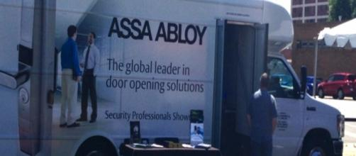 An Assa Abloy truck [Image by Scott Lewis/Flickr]