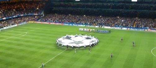 Champions League banner at Stamford Bridge (Image Credit: Photo Credit: UEFA/Wikimedia Commons)