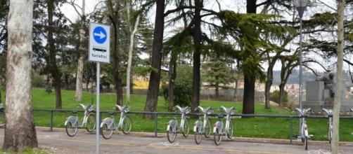 Esempio di parcheggio bike sharing (Verona)
