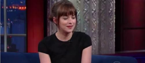'Fifty Shades of Grey' star Dakota Johnson is on a dating spree. (Image Credit:The Late Show with Stephen Colbert/Youtube)