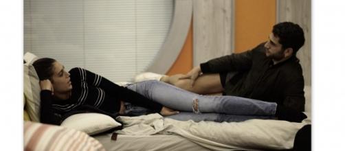 Cecilia e Jeremias Rodriguez nella casa del GF Vip
