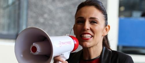 Jacinda Ardern at the University of Auckland [Image by Ulysse Bellier|Wikimedia Commons| Cropped | CC BY- 2.0 ]