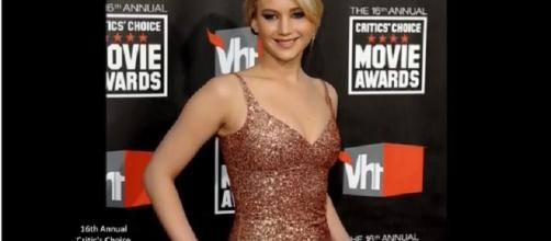 Jennifer Lawrence says she was forced to do a 'naked line-up'. Image credit: flowers forever/Youtube screenshot