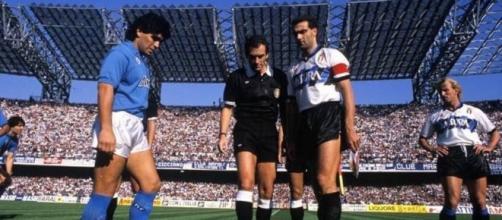 Napoli-Inter, 22 ottobre 1989: i capitani Diego Maradona e Beppe Bergomi