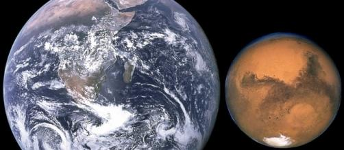 Size comparison of Earth and Mars Credit/ Wikimedia Commons / NASA