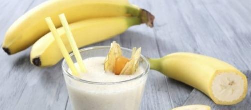 Un esempio di colazione con le banane