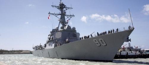 USS Chafee enters U.S Naval Base Guam (Image Credit – Edward N. Vasquez - Wikimedia Commons)