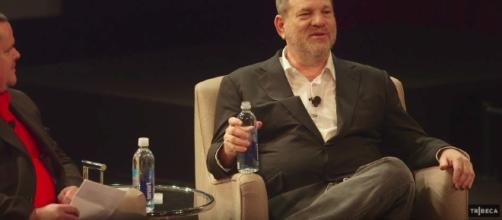 Weinstein has apparently been falling asleep in his sex rehab meetings. [Image via Tribeca/YouTube ]
