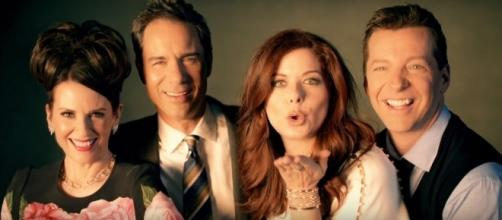 """Will & Grace"" actors show support to ""Spirit Day"" celebration. (Image Credit: Will & Grace/YouTube)"