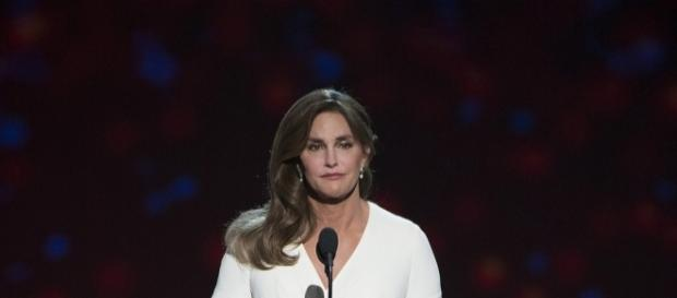 Caitlyn Jenner making a speech. [Image Credit: Disney ABC Television/Flickr]