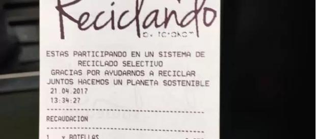 Comprovante de recibo enviado por amigo jornalista na Espanha