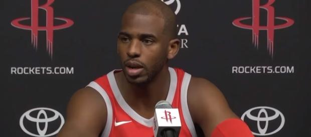 Houston Rockets point guard Chris Paul is out for a few weeks due to a bruised left knee -- ESPN via YouTube
