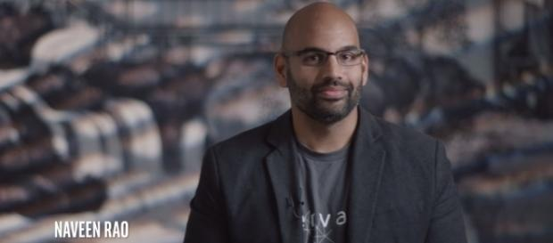 Naveen Rao, former CEO and cofounder of Nervana [Image via Intel Business/Youtube screencap]