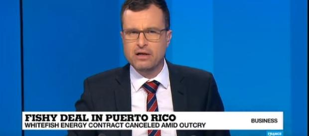 Puerto Rico cancels Whitefish Energy power contract amid uproar - Image credit FRANCE 24 English | YouTube