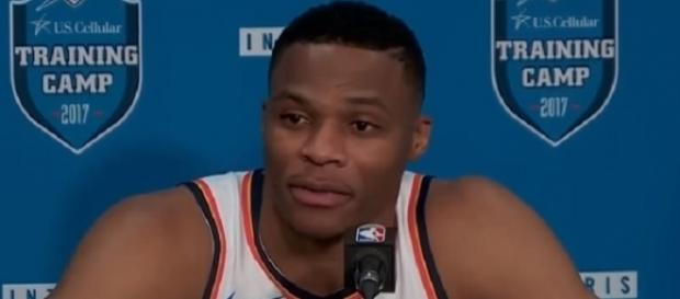 Russell Westbrook recorded 21 points, 16 assists and 10 rebounds vs Knicks (Image Credit: KJRH -TV/YouTube)
