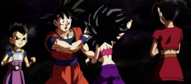 Saiyan showdown on 'Dragon Ball Super' - Image via YouTube/DbTR