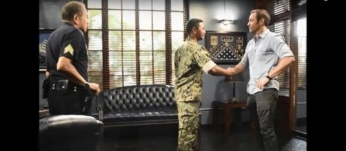 "Bonds between Steve McGarrett (Alex O'Loughlin) and Junior Reigns (Beulah Koale) are growing deeper on ""Hawaii Five-O."" Hawaii Five-O/YouTube"