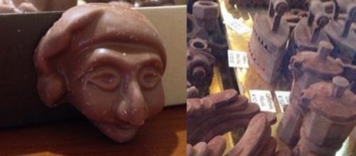 Creazioni di cioccolato artigianale.