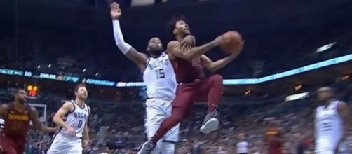 Derrick Rose received a hard foul from Greg Monroe while driving to the basket -- (Image Credit: MLG Highlights/YouTube)