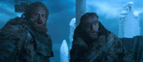 Kristofer Hivju (Tormund) e Richard Dormer (Beric Dondarrion) nel finale della settima stagione di Game of Thrones