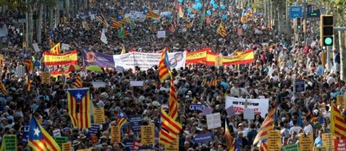 Manifestación en Barcelona - El soberanismo ensombrece la unidad ... - vozpopuli.com
