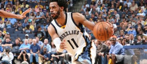 Mike Conley and the Grizzlies host the Golden State Warriors on Saturday night. [Image via NBA/YouTube]