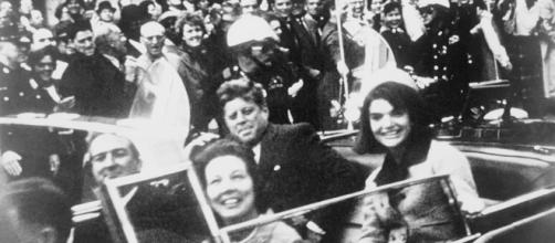 President Kennedy moments before assassination [image courtesy Victor/YouTube]