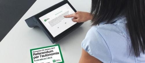 Referendum autonomia Lombardia, si vota coi tablet