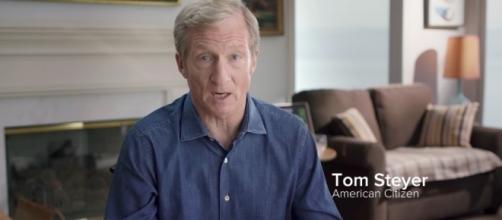 "Steyer is known as a Democratic ""megadonor."" [Image via Tom Steye/YouTube screencap]"