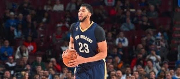 Anthony Davis and the Pelicans host the Golden State Warriors on Friday night. [Image via NBA/YouTube]