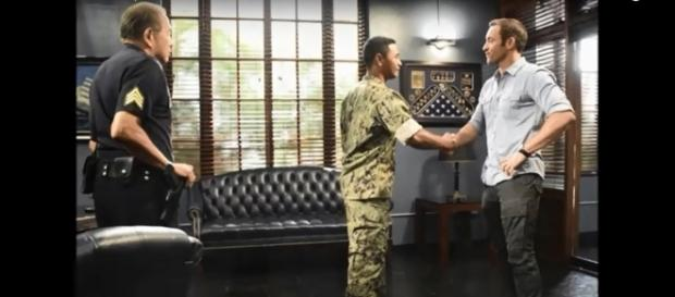 "Bonds between Steve McGarrett (Alex O'Loughlin) and Junior Reigns (Beulah Koale) are growing deeper on ""Hawaii Five-O."" Hawaii Five-O/YouTube"